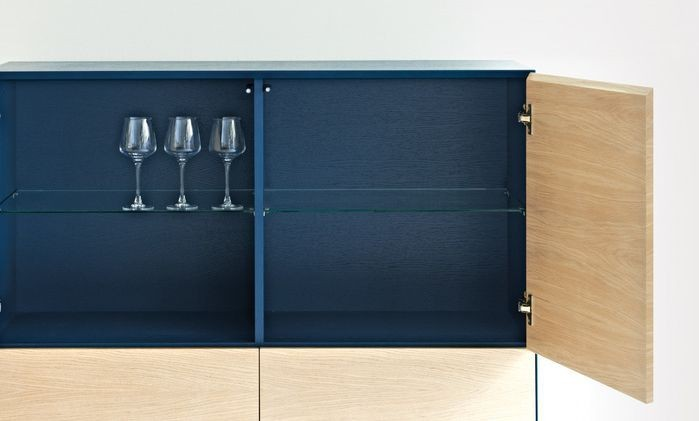 Cubo square cabinet 4 doors by another brand for Sideboard petrol