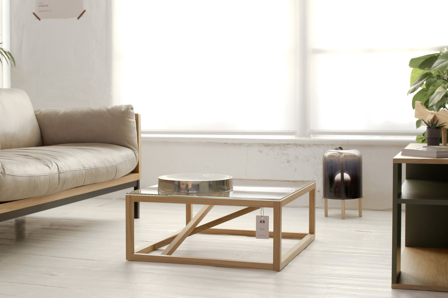 1x1 GlassTrestle Coffee table