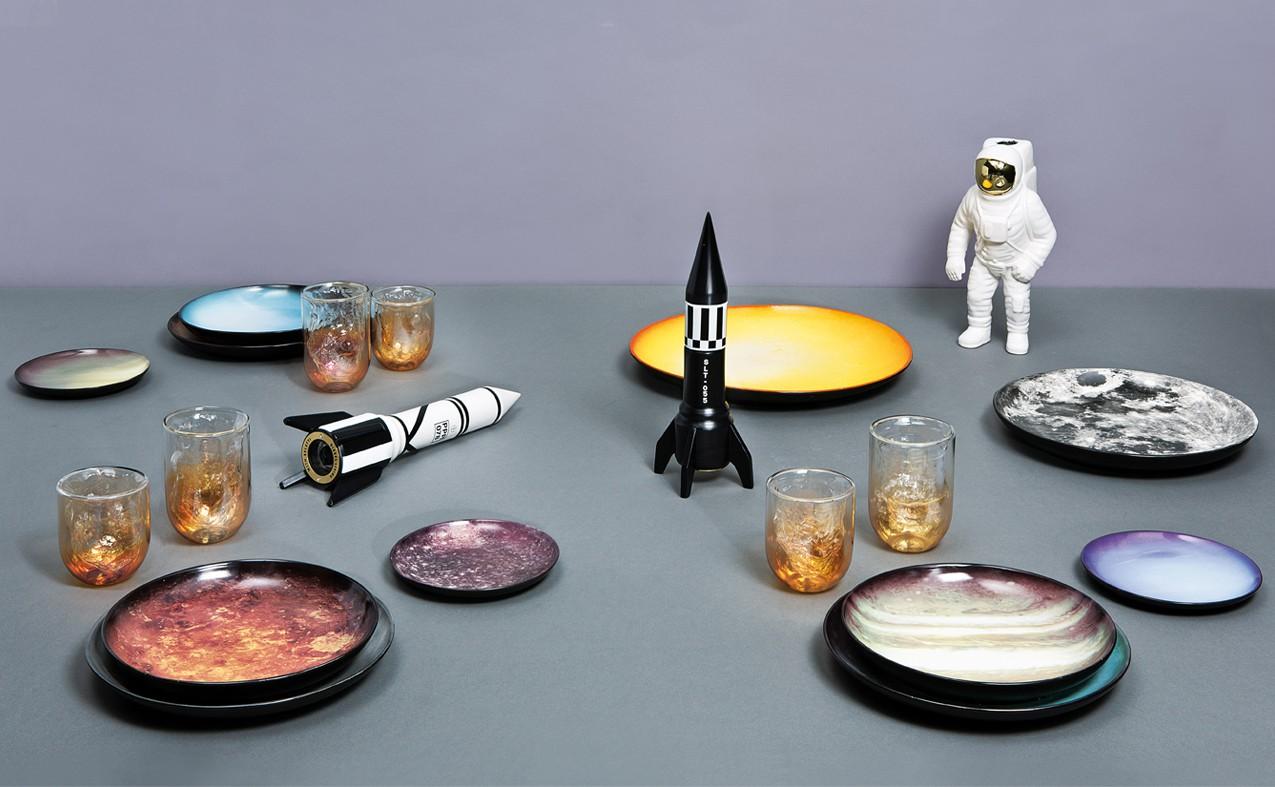 Cosmic Diner Saturn Plate