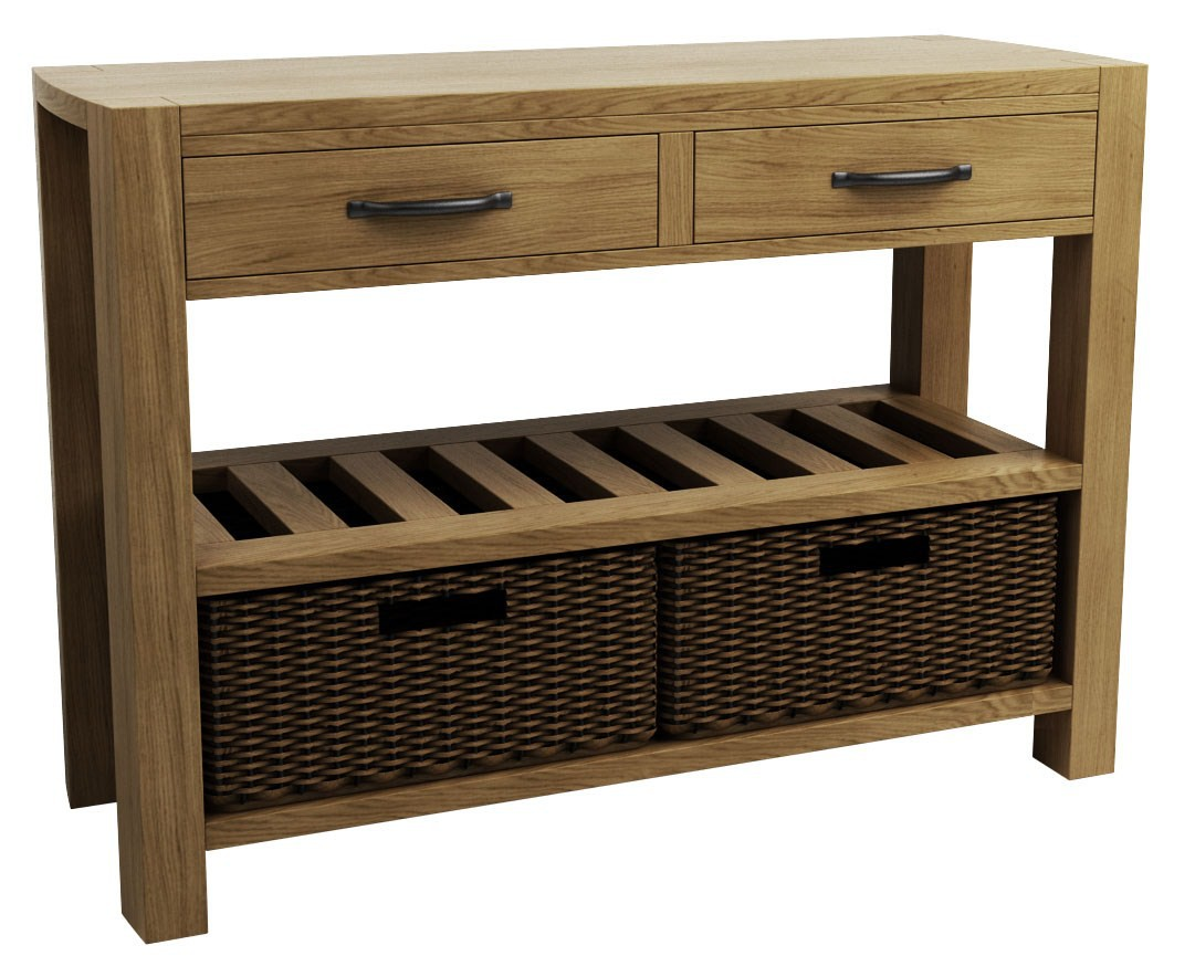 Goliath double basket console table console tables kitchen shop by room furniture - Goliath console dining table ...