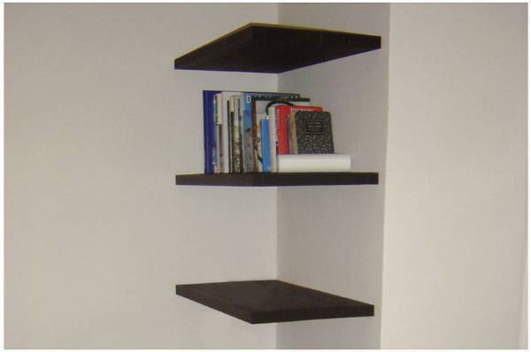 Floating Shelves Stained 1