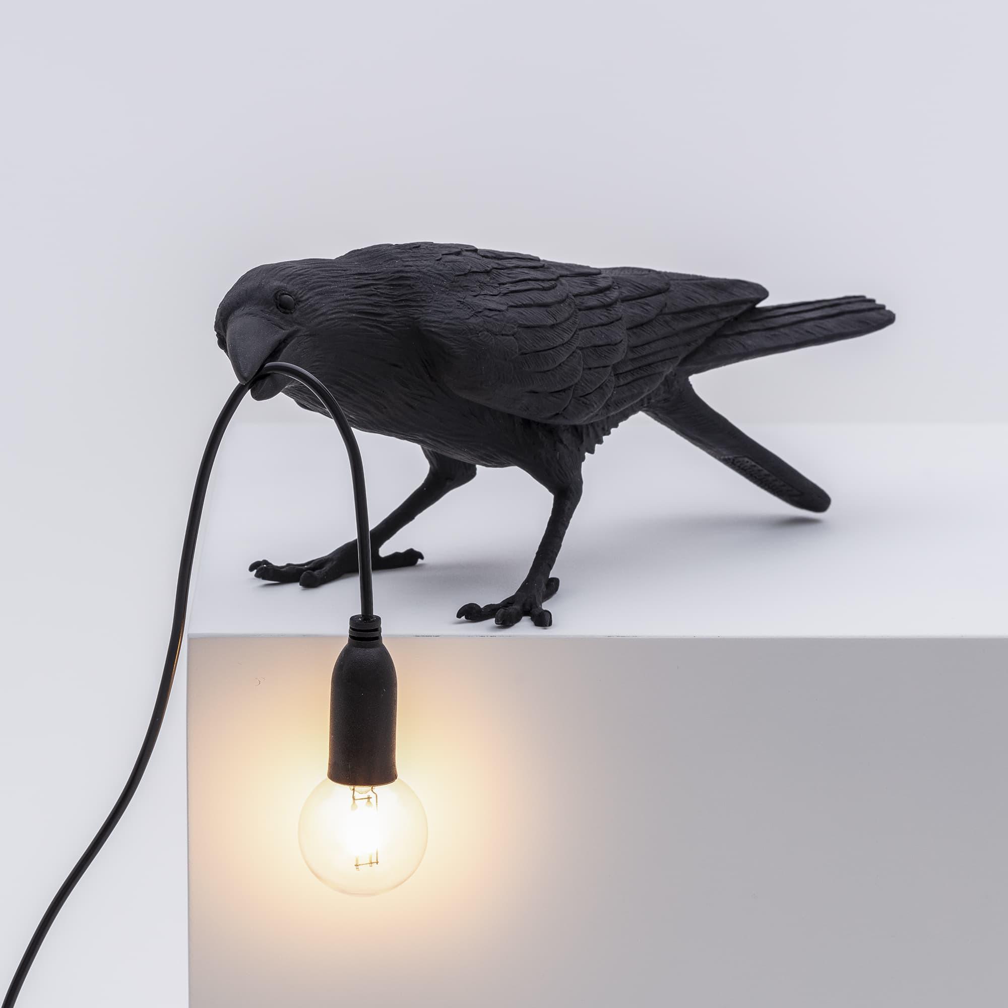 Bird Lamp Playing Black