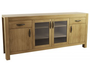 Goliath 2 Wood & 2 Glass Door Sideboard