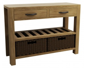 Goliath Double Basket Console Table