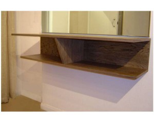 Floating Shelves Stained 3