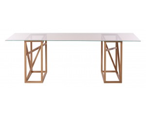 1x1 GlassTrestle Dining table