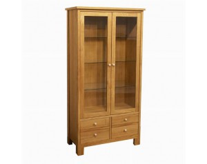 Rozzano Double Display Cabinet