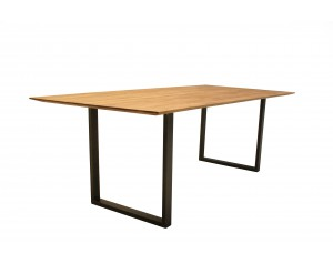 Life Oak Dining Table with U-shape leg