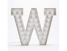 Vegaz Metal Letter With LED Bulb