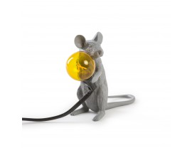 Mouse Lamp Sitting Grey