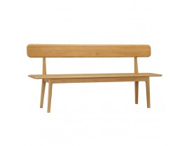 Hudson Dining Bench with Backrest