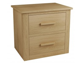 Eclipse 2 Drawer Bedside Table