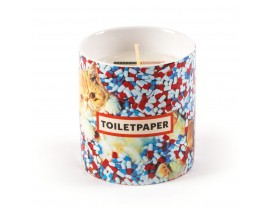Toiletpaper Candle Cat