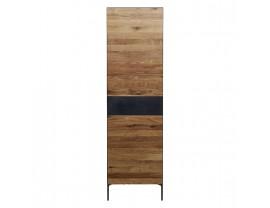 Ortello oak bookcase 2D and 1DRW