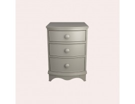 Broughton Pale French Grey 3 Drawer Bedside Chest