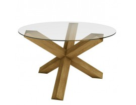 Crossed-leg Table (Glass Top)
