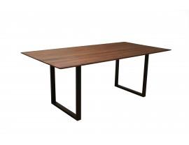 Life Walnut Dining Table with U-shape leg