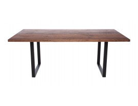 Fargo Walnut Dining Table with U-shape leg 3x6cm