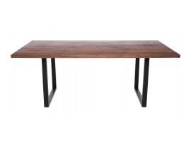 Fargo Walnut Dining Table with U-shape leg 3x6cm