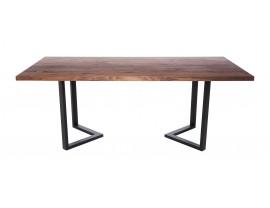 Fargo Walnut Dining Table with M-shape leg 3x6cm