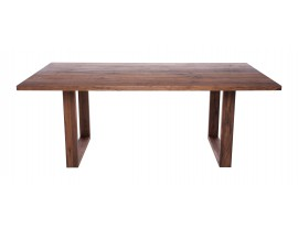 Fargo Walnut Dining Table with U-shape wooden leg 4x10cm