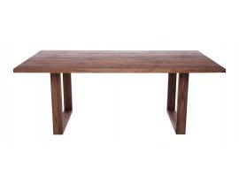 Fargo Walnut Dining Table with U-shape wooden leg 4x10cm