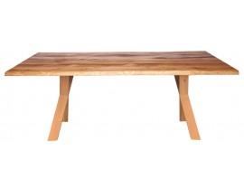 Fargo Oak Dining Table With X Shape Wooden Leg