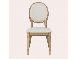 Wellington Oak Pair Of Upholstered Dining Chairs