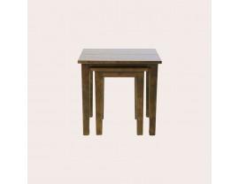 Garrat Dark Chestnut Nest Of 2 Tables