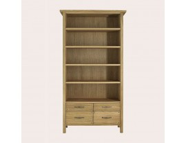 Milton Oak 4 Drawer Single Bookcase