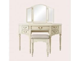 Clifton Ivory 5 Drawer Dressing Table & Stool Set