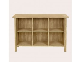 Milton Oak Low Bookcase