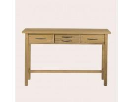 Milton Oak 4 Drawer Console Table