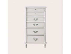 Clifton Dove Grey 6 Drawer Tall Chest