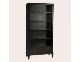 Henshaw Black 2 Drawer Single Bookcase