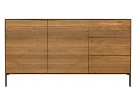Helga oak 2 door and 3 drawer sideboard