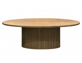 Timo Oak Oval Dining Table With Slatted Base