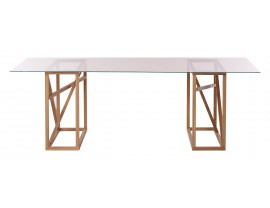 1x1 GlassTrestle Dining table