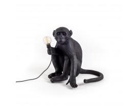 Monkey Lamp Sitting Black