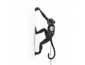 Monkey Lamp Hanging Right Black