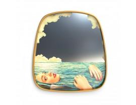 Mirror Gold Frame Sea Girl