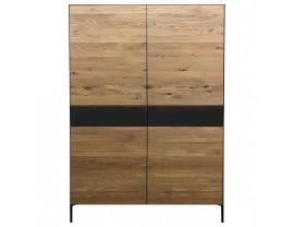 Ortello oak bookcase 4D and 2DRW