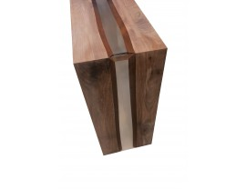 River Walnut Console Table