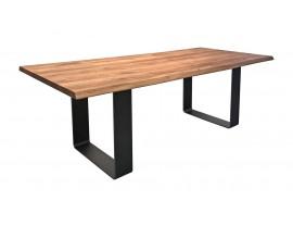 Fargo Oak Dining Table with Rounded U-shape leg W10 cm