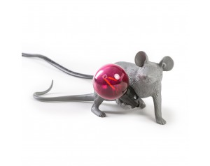 Mouse Lamp Lie Down Grey