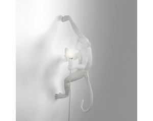 Monkey Lamp Hanging Right White