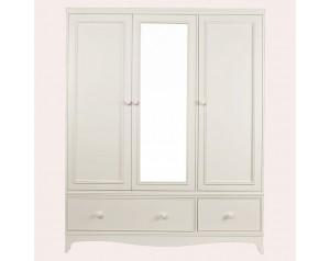 Broughton Ivory 3 Door 2 Drawer Wardrobe