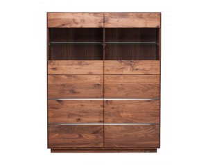 Fargo Walnut Double Display Unit