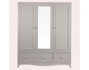 Broughton Pale French Grey 3 Door 2 Drawer Wardrobe
