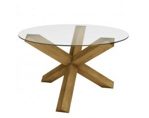 Crossed-leg Table (Glass Top)